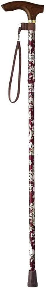XYSQWZ Walking Stick Don't miss the Max 57% OFF campaign Printed Crutches Adjustable Aluminum