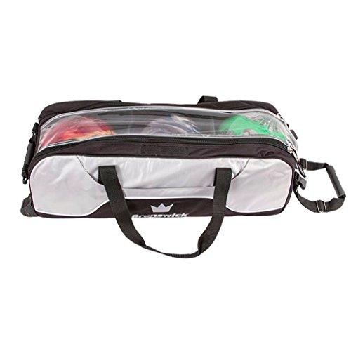 Brunswick Crown Bowlingtasche mit 3 Taschen, silberfarben