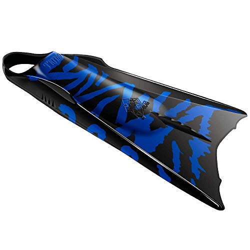 Kpaloa Tritão Palmes de Bodysurf Bodyboard Tiger Shark Bleu (S)
