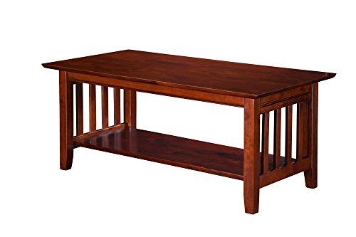 Atlantic Furniture Mission Coffee Table, Walnut