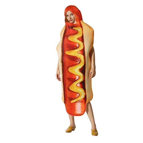AMZYY Vestido de Traje, Disfraz de Perrito Caliente, Disfraz Escenario Espectculo Perros Calientes Comida Halloween, Traje Tridimensional
