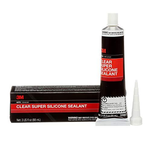 3M Clear Super Silicone Seal, 08661, 3 oz