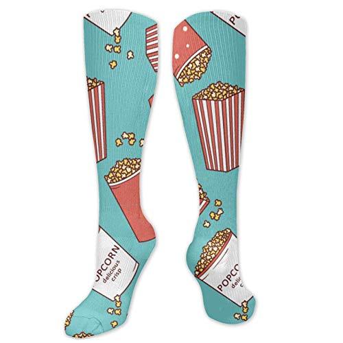 Uosliks Bunte Popcorn-Neuheit Cool Crazy Dress Crew Socken für Männer Frauen, Fuzzy Casual Long Socks Atmungsaktiver Komfort Compression High Ankle