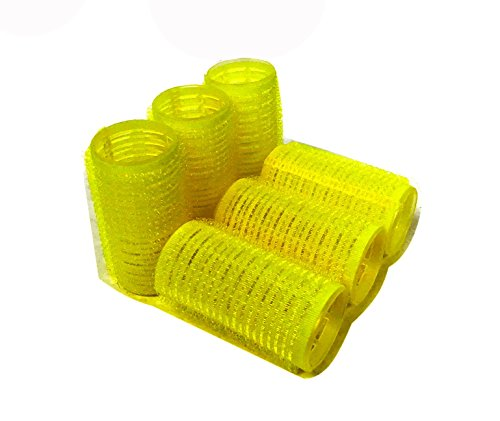Self Hair Grip Velcro Curlers Rollers Pro Salon Hairdressing (Medium)