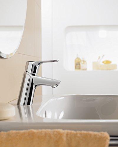Hansgrohe – Waschtischarmatur, mit Zugstangen-Ablaufgarnitur, QuickClean, EcoSmart, Chrom, Serie Focus 70 - 3