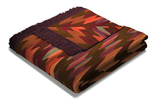 Biederlack Wohn- & Kuscheldecke, 60 prozent Baumwolle, Mit Fransen, 150 x 200 cm, Mehrfarbig, Visiona Cotton Plus Marokko, 647658