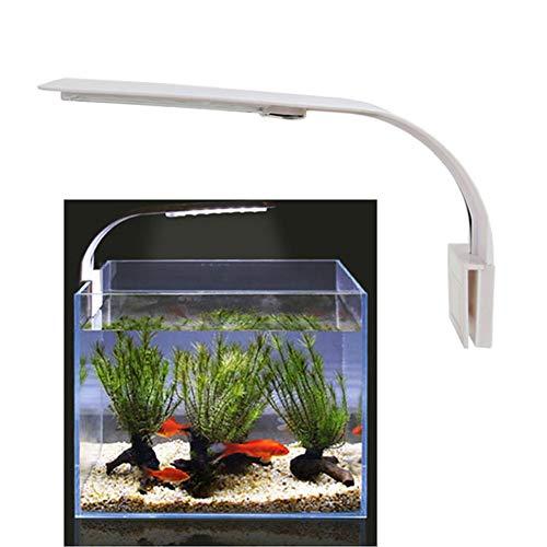 KOKOMALL Luz LED Acuario, Luces Iluminación Clip-on para Acuarios Plantados Lámpara Blanco para Pecera 23-50cm