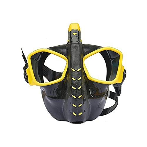 XINTONGSPP Gafas de natación, Juego de Snorkel de Buceo, Antideslizante, fácil de Respirar la máscara de Buceo, Deportes al Aire Libre, Gafas de natación bajo el Agua,Amarillo