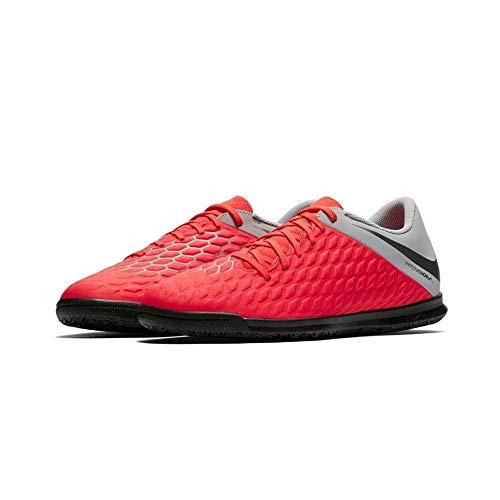 Nike Jungen Unisex-Kinder Jr Hypervenom 3 Club Ic Futsalschuhe, Mehrfarbig (Lt Crimson/MTLC Dark Grey/Wolf Grey 600), 33 EU