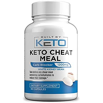 Carb Blocker - 1200mg White Kidney Bean Extract - Keto Cheat Meal - Best Carb, Starch, & Fat Blocker for The Ketogenic Diet - Eat Carbs While on Keto - 60 Capsules - Built By Keto