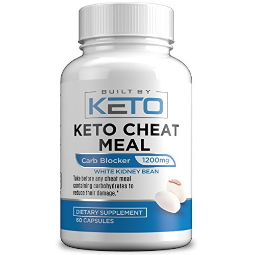 Carb Blocker - 1200mg White Kidney Bean Extract - Keto Cheat Meal - Best Carb, Starch, Fat Blocker for The Ketogenic Diet - Eat Carbs While on Keto - 60 Capsules - Built By Keto