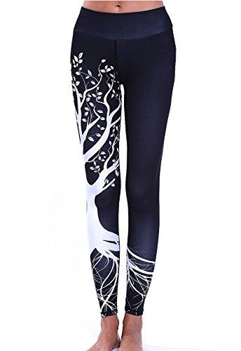 FITTOO Pantalones Deportivos Mujer Yoga Leggings de Alta Cintura Elásticos y Transpirables para Running Fitness490