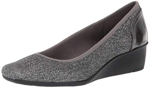 Price comparison product image Anne Klein Women's Wisher Wedge Heel Shoe,  Pewter,  8 M US
