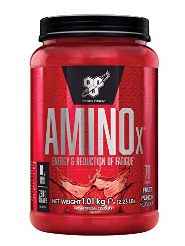 BSN Nutrition Amino X Muscle Building Support Powder Supplement with Vitamin D, Vitamin B6 and Amino Acids, Fruit Punch, 1 kg, 70 Servings