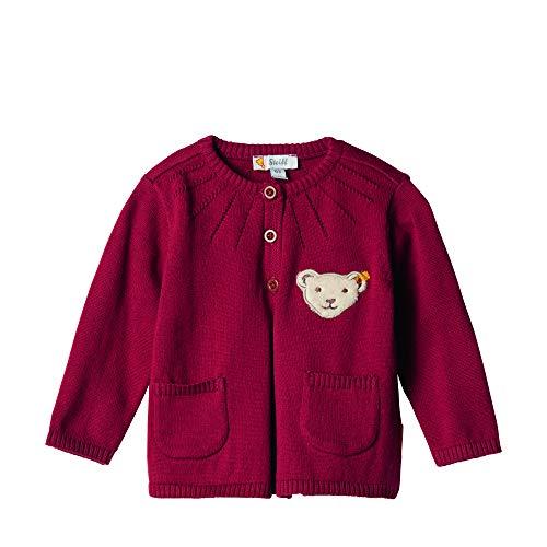 Steiff Baby-Mädchen Strickjacke, Rot (BEET RED 4010), 74 (Herstellergröße:74)
