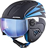 ALPINA CARAT LE VISOR Skihelm, Kinder, nightblue-denim matt, 48-52