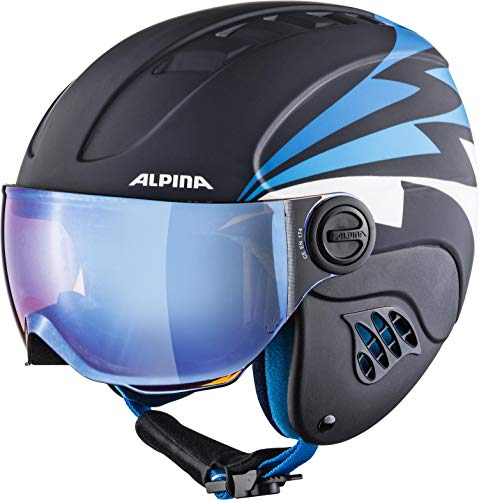 ALPINA CARAT LE VISOR Skihelm, Kinder, nightblue-denim matt,...