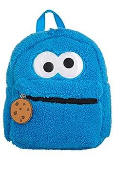 Sesame Street Toddler Cookie Monster Backpack Back to School Bookbag for Toddler Plush Zippered Bag