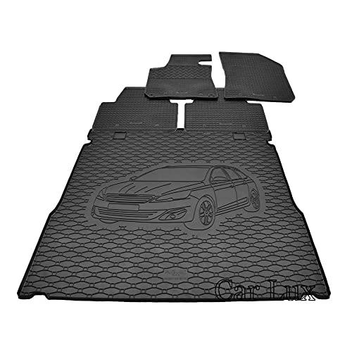 Car Lux DUO06037 Tapis en caoutchouc sur mesure + Tapis de protection de coffre pour Peugeot 308 SW à partir de 2014