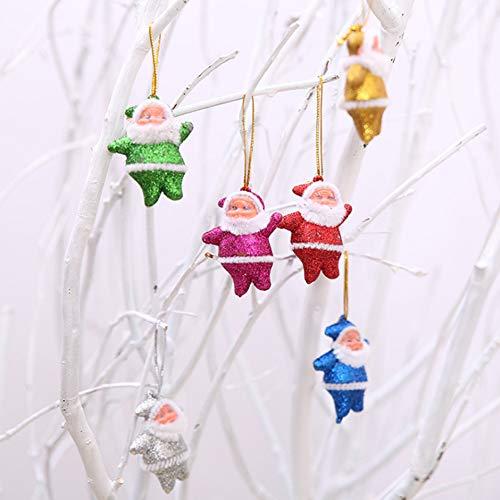XdiseD9Xsmao mini-kerstman-pop, hanger met hanger met fonkelende hangers, 6 stuks Meerkleurig.