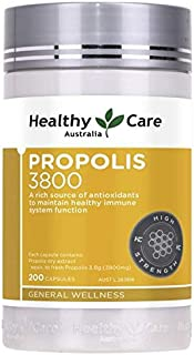 Healthy Care Australia Bee Propolis Extract 3800mg 200 Capsules Ultra Premium Support a Healthy Immune System