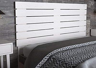Fabricado a mano, acabado rústico. Madera de pino maciza cepillada, no requiere montaje, sólo fijación a pared, incluye herrajes de colgar Píntalo tu mismo y personaliza tu cabecero, disponemos de 5 colores. Complemento ideal para optimizar su lote d...