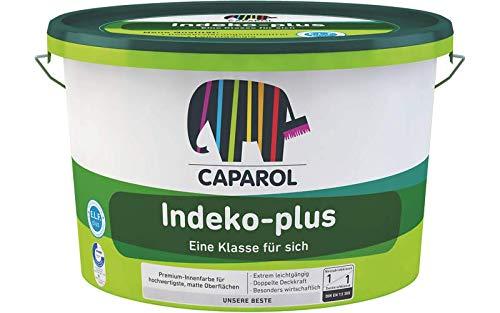 Indeko Plus 12,5L Weiß DOPPELT DECKENDE Innenfarbe Dispersionsfarbe weiss