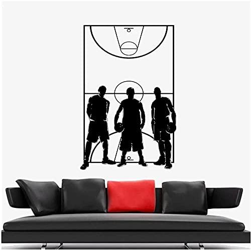 Calcomanías De Pared Juego Deportes Equipo De Baloncesto Jugadores De Campo Decoración Del Hogar Calcomanías De Pared Vida Pegatinas De Pared 58 X 86 Cm