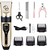 KRY Professional Dog Grooming Kit Rechargeable Silent Pet Grooming Clippers For Dogs, Cats and Other Pets