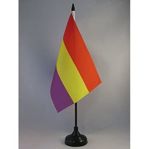 AZ FLAG Bandera de Mesa ESPAÑA Republicana SIN Escudo 21x14cm ...