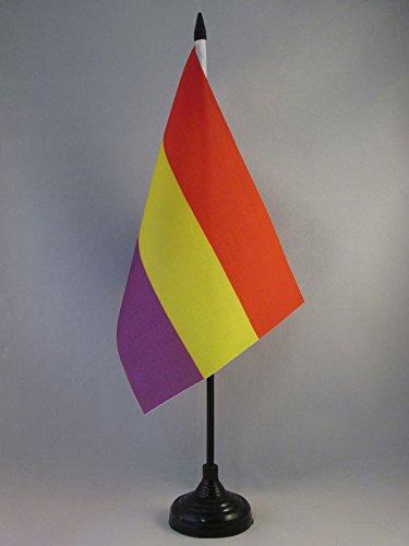 AZ FLAG Bandera de Mesa ESPAÑA Republicana SIN Escudo 21x14cm - BANDERINA de DESPACHO DE LA Republica ESPAÑOLA 14 x 21 cm