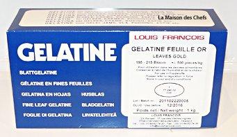 Louis François Gelatine en Fines Feuille Or (500 pièces)