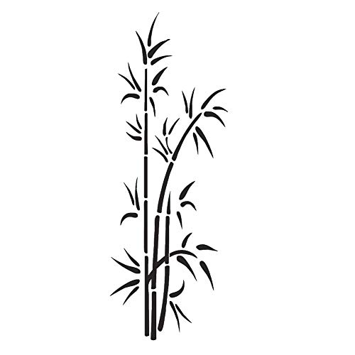 Bambus Grass wiederverwendbare Schablone A5 A4 A3 & größere Größen Wanddekoration Flora/Bamboo1, Widerverwendbare PVC-Schablone, A5 size - 148 x 210 mm, 5.8 x 8.3 in