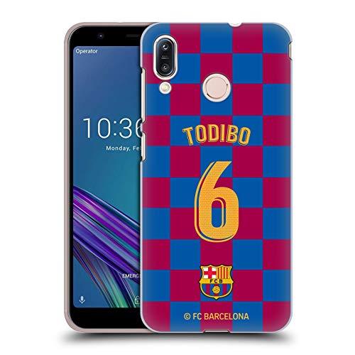 Officiële FC Barcelona Jean-Chair Todibo 2019/20 Spelers Home Kit Groep 2 Hard Back Case Compatibel voor Asus Zenfone Max (M1) ZB555KL