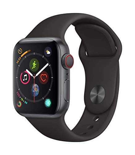AppleWatch Series4 (GPS+Cellular, 40mm) - Space Gray Aluminum Case with Black Sport Band