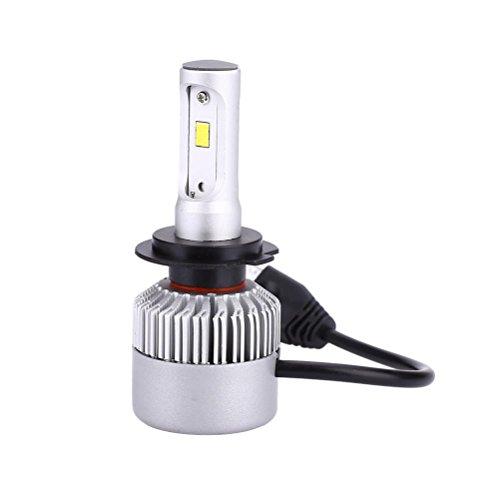 VORCOOL LED Bombilla para Faros Delanteros LED H7 6000K 8000 de Coche Automóvil Brillantes (Luz Blanca)