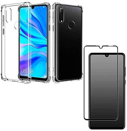 Kit Capa Anti Shock Reforçada Huawei P30 Lite + Película 5D Nano Flexível Blindada + Kit Aplicação