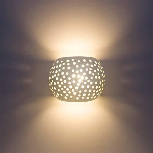 LED wandverlichting binnen wandverlichting gips lamp moderne wandlamp uplighter verlichting 7W design op en neer binnenwand lampen ronde bolvorm warmwit (omvat G9-lampen) [energieklasse A++]