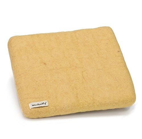 Woolbuddy Needle Felting 100% Woolen Mat Size XL (Yellow)