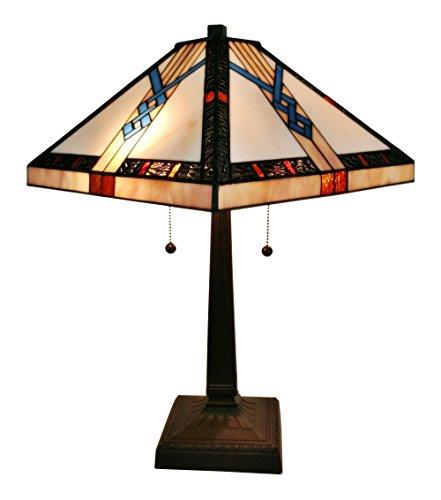 Amora Lighting AM244TL14 Tiffany-Style Mission Table Lamp