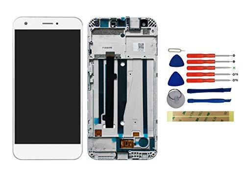 Yixi Pantalla Completa para ZTE Blade A512 / ZTE Z10 5.2' Pantalla LCD Pantalla con Marco Táctil Blanco Repuesto de Pantalla Recambio