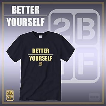 2BYF Navy T Gold Logo