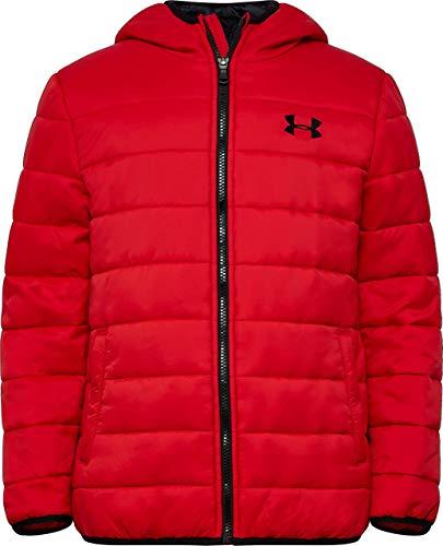 Under Armour Boys' Big Pronto Puffer Jacket, Red F, YSM