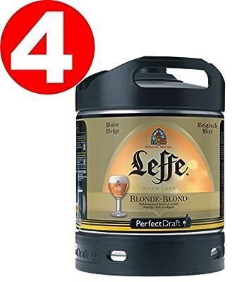 4 Fässer a 6 Liter Leffe Blonde 6,6% Vol. Original belgisches Bier - Belgisches Abday Bier. BBQ und Party!!