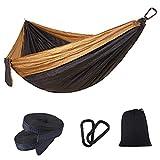 Hamacas Morningmo al aire libre, hamaca portátil ligera para camping, para senderismo, viajes, hamaca de nailon