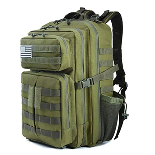 Luyshts Wear-resistant Oxford Material Casual Outdoor Bag Large-capacity Field Tactical Backpack (Color : Green)