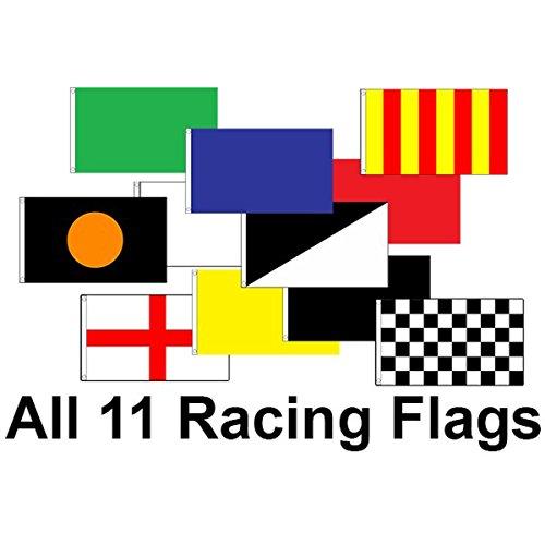 Pak van 11 3ft x 2ft racing vlag set
