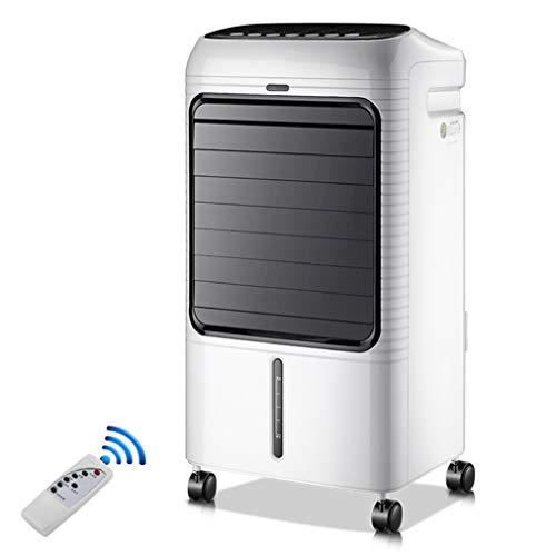 JCJ-Shop Tragbarer 65-W-Luftkühler, Lüfter, 8-Liter-Wassertank, 7,5-Stunden-Timer, Klimaanlagenlüfter mit Fernbedienung, Weiß