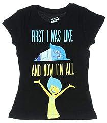 Inside Out Joy Big Girls Short Sleeve Shirt