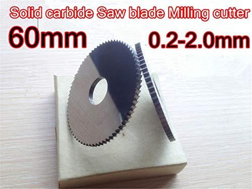 60 * 0.2mm-2.0mm Dicke 16Mm Inner 72T 1Pcs VHM Sägeblatt Fräser Verarbeitung von Edelstahl, usw. 60x2.0mm 1pcs